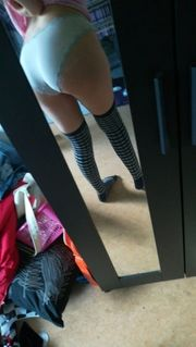 heiße getragene Höschen Socken und