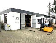 Werkstatt Halle mit Lager- Büro-