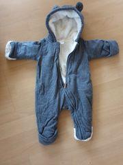 Winteranzug Baby Gr 56 Schneeanzug