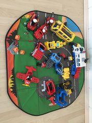 Lego-Dublo Fahrzeuge FIguren und Bausteine
