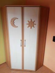 Eckschrank Sonne-Mond für Kinder-Jugendzimmer