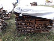 Eichen Brennholz ofen fertig