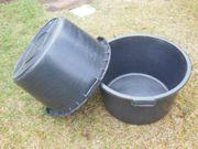 Regenwasserbehälter Mörtelkübel schwarz 65 Liter