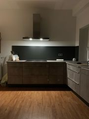 Küche Einbauküche Betonoptik Bosch Einbaugeräte
