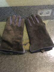 Damen Leder Handschuhe in schwarz