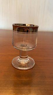 Gläser verschiedene mit Platinrand