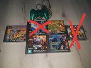 4 ps1 Spiele und Controller