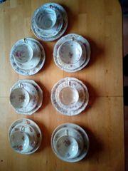 7 teiliges Porzellanservice