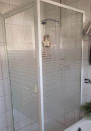 Duschtür mit Seitenteil