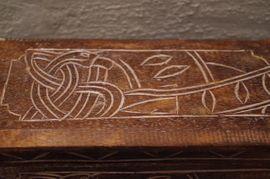 Sonstige Antiquitäten - Holz Schatulle Box geschnitzt Kornblume