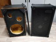 2 Boxen Leergehäuse für PA-DJ-HI-FI
