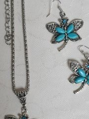 Schmuckset Schmetterling Türkis