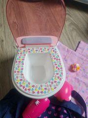 Puppen Hochstuhl Toilette Badewanne