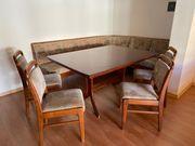 Eckbank mit Tisch 4 Stühle