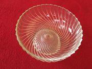 Obstschale Glasschale runde Schale
