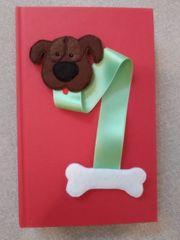 Lesezeichen aus Filz Hund handmade