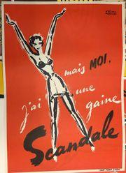Orig Vintage Poster 1950 Reklame