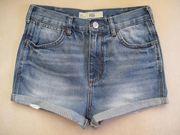 Jeans-Hotpants High Waist Shorts Gr