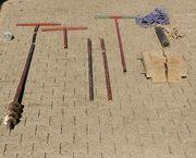 Erdbohrer Brunnenbohrer mit Plunscher Schlämmer