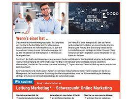 Leitung Marketing - Schwerpunkt Online Marketing (m/w/d)