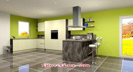 Küchenzeilen, Anbauküchen - Moderne grifflose Küche 245 x