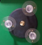 Deckenlampe 3 Strahler blau