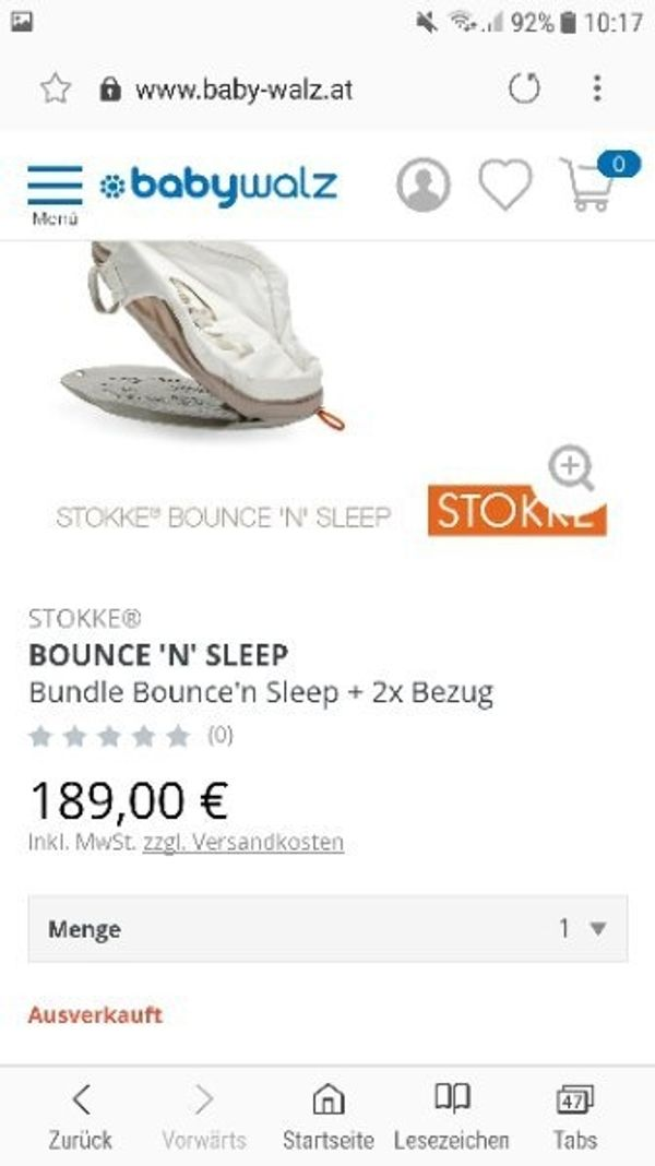 Stokke Bounce n Sleep Komplett -