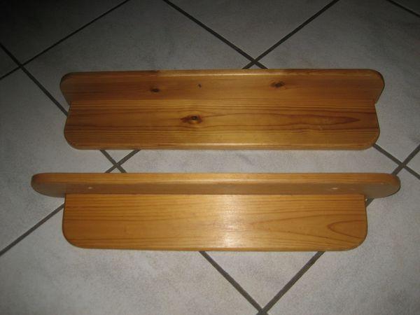 2 Ablagen aus Holz Holzablage