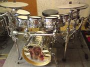 E-Drumset Drumtec Diablo Handhammered -Pearl