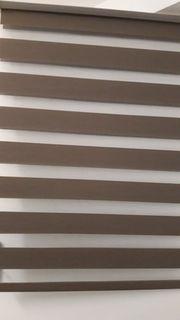 Doppelrollo Klemmrollo Jalousie braun transparent