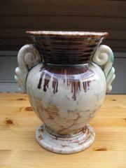 Keramikvase - Vintage - Retro - creme braun
