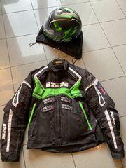 Motorradbekleidung Helm Jacke