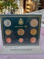 VATIKAN Kursmünzensatz KMS 2005 stempelglanz