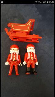 Playmobil Weihnachtsmänner mit Schlitten