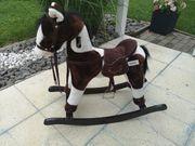 Besttoy Schaukelpferd braun Plüschpferd Pferd