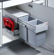 Küchen-Abfalleimer Plastik Grau