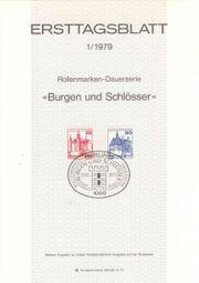 Ersttagsblätter 1979-1981 Berlin Bundesrepublik Deutschland