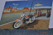 Metall Pinnwand Motorrad Route 66