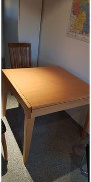 ausziehbarer Tisch 1x1 m