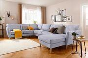 Sofa Wohnlandschaft wie NEU Grau