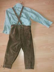 Kinder-Trachtenhose Lederhose Trachtenhemd Größe 140