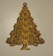 Christbaumanhänger aus goldfarbenem Blech