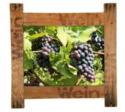 Holzbilderrahmen mit Fotografie Weintrauben 50