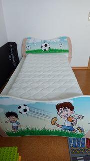 Kinderbett Jugendbett inkl Bettkasten Rausfallschutz