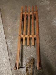 Schlitten Holz 3-Sitzer