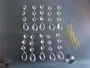 10 Glasprismen Anhänger für Lampen