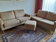Sitzgruppe 2 x Couch Hocker