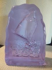 Segelschiff Glasstein und Segler auf