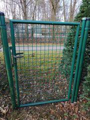 Gartentür Zauntor Metall grün