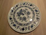 Tortenplatte Zwiebelmuster Form Marienbad Ingress